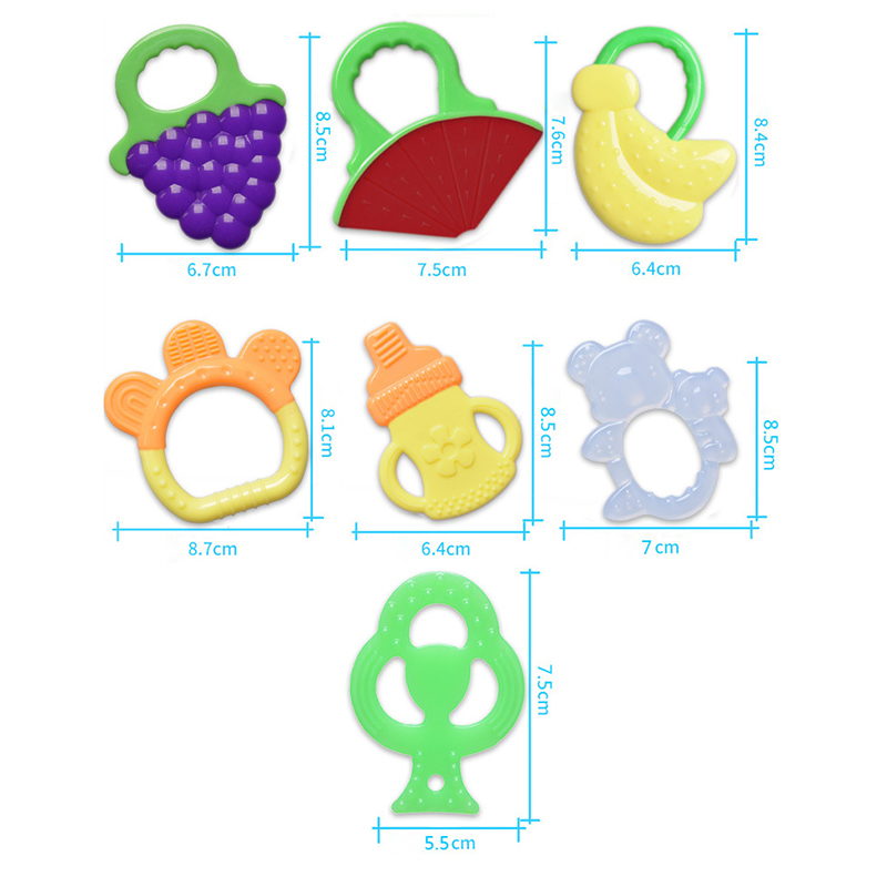 Safety Baby Toddler Teether Silicone Soft Molar Rod Chew Toys Teeth Stick