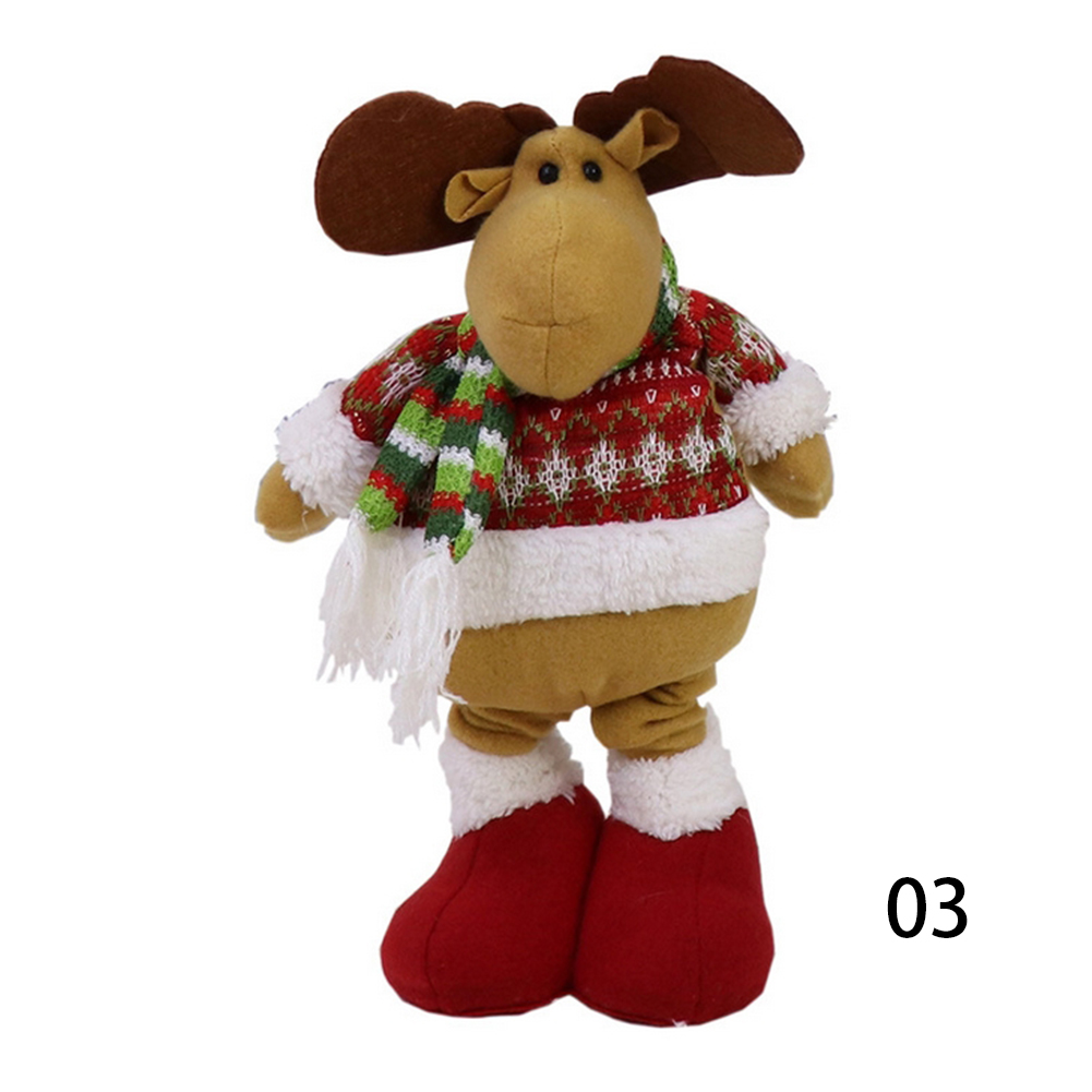 Cute Flexible Reindeer Doll Christmas Decoration Xmas Tree Hanging Ornaments Gift