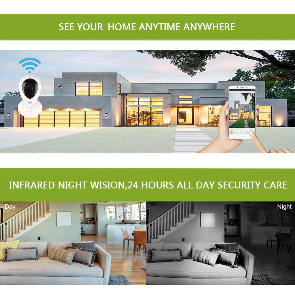 Wireless HD 720P Security Network CCTV Mini IP Camera Night Vision WIFI Webcam