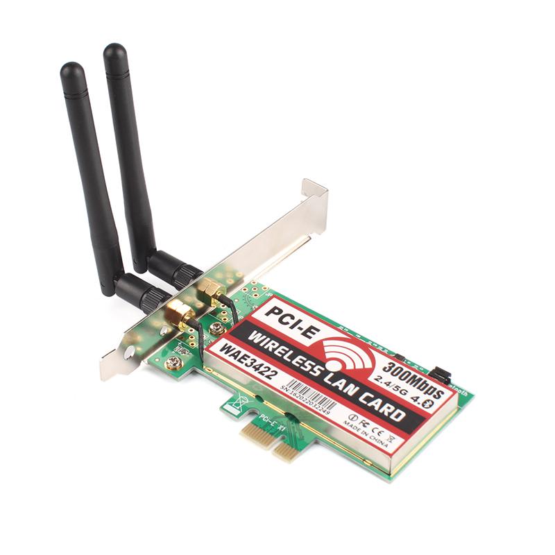 300M Wireless PCI-E PCI Network Lan Card Ethernet NIC + 4.0 Bluetooth