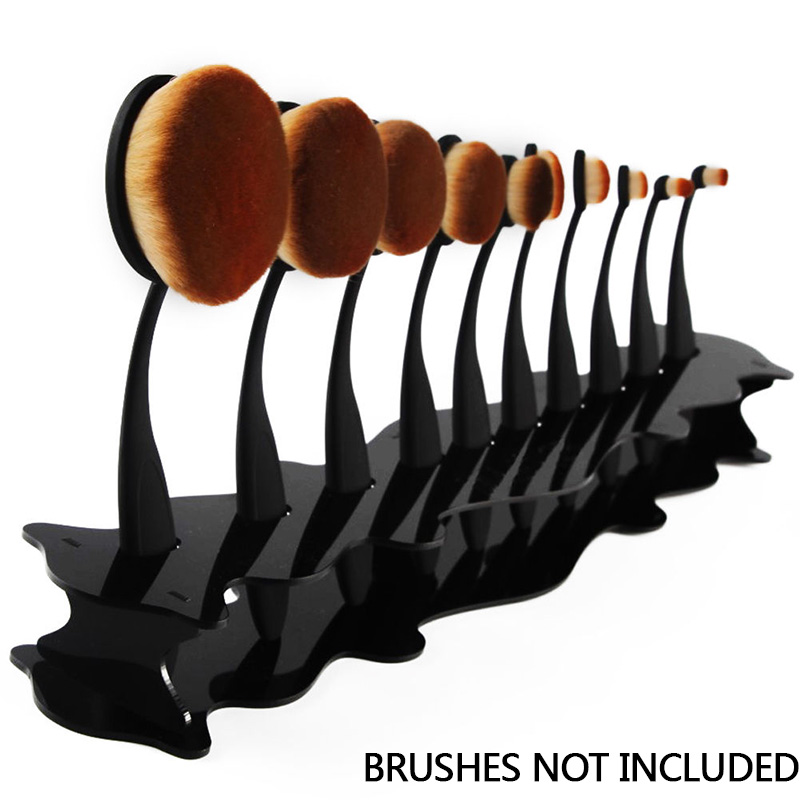 10Pcs Toothbrush Makeup Brush Display Shelf Holder Stand Cosmetic Organizer Rack