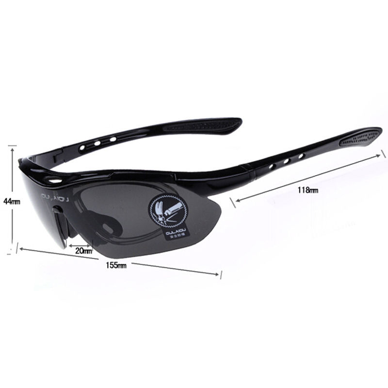 Bike Bicycle Sports Cycling Sunglasses UV400 5 Lens Replacement Goggles Glasses