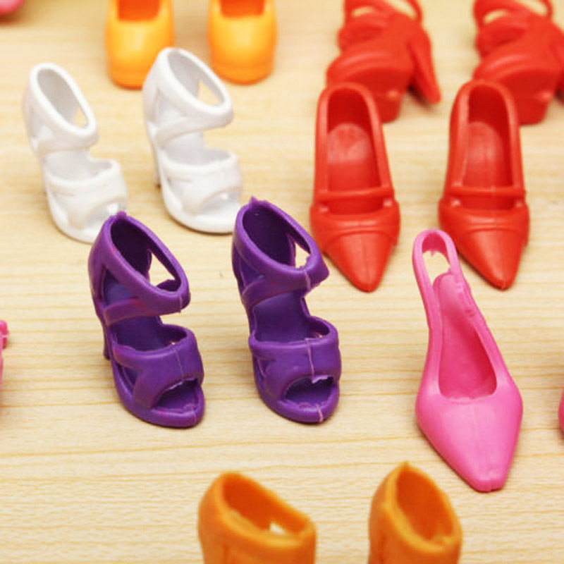 40 Pairs Different Multiple Styles High Heel Sandal Shoes Boots For Barbie Doll