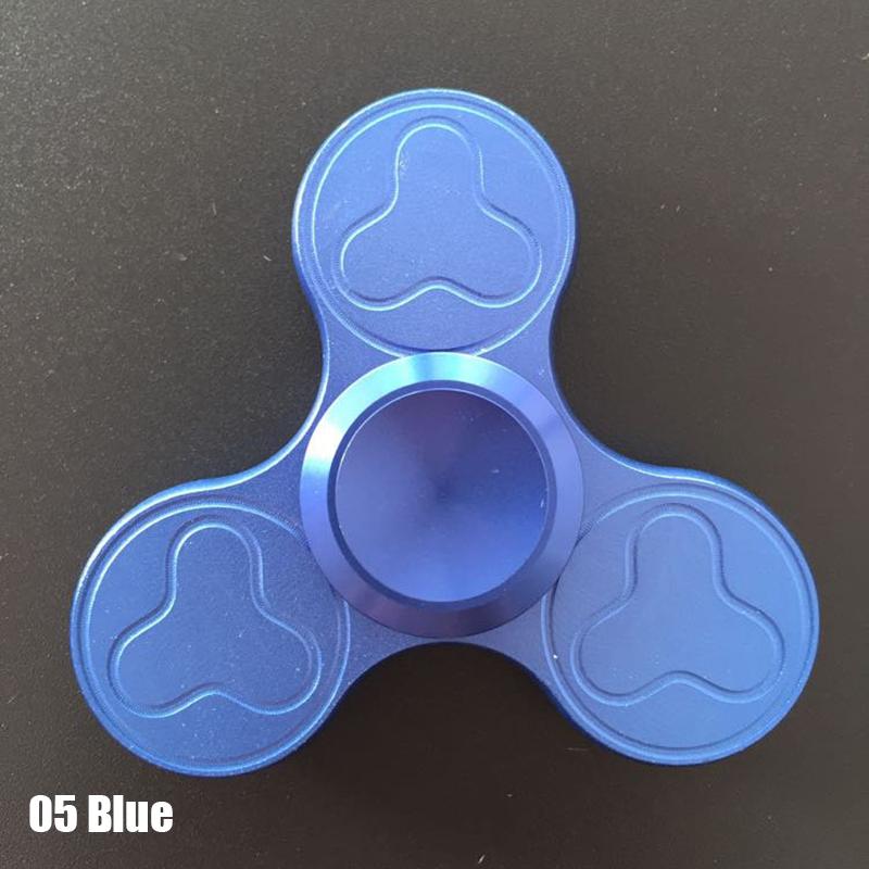 Aluminum Alloy Plum Pattern Hand Spinner Round Tri Fidget Ceramic Finger Focus Toys EDC