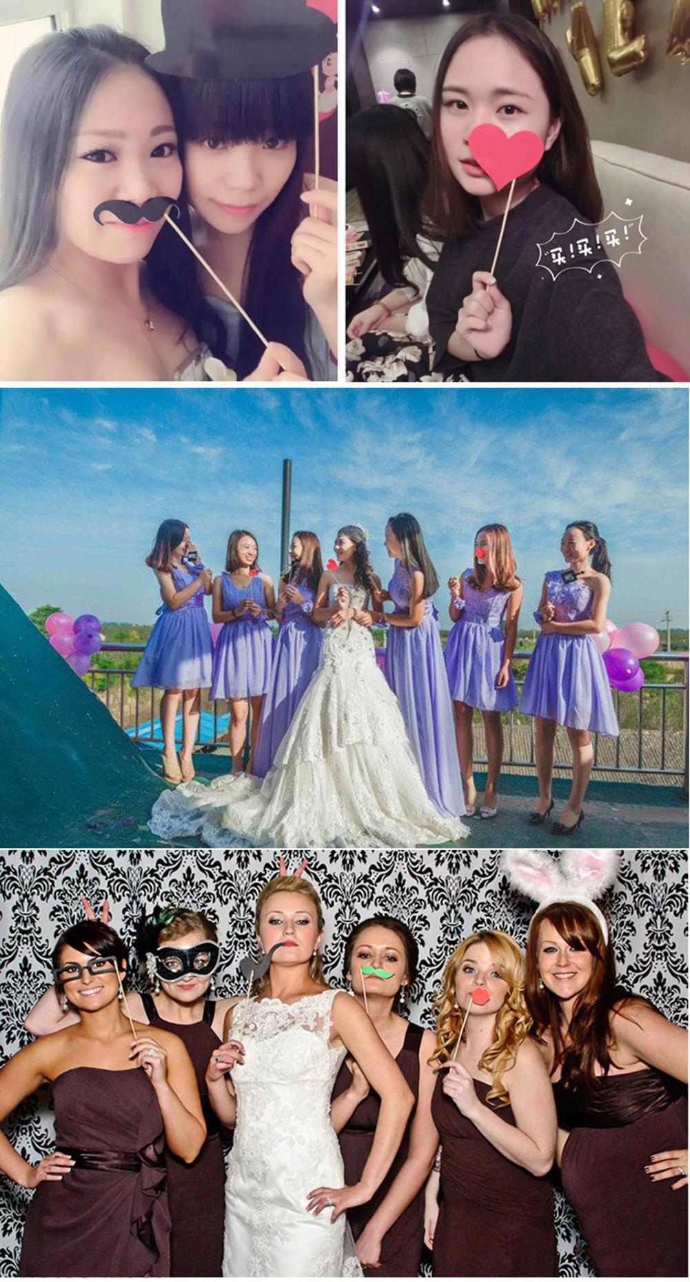 58pcs DIY Photo Booth Props DIY Kit Wedding Birthday Decorations Party Supplies