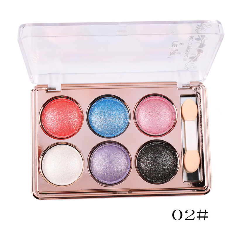 6 Color Women Nautural Eyeshadow Makeup Palette Eye Shadow Cosmetic Set Party