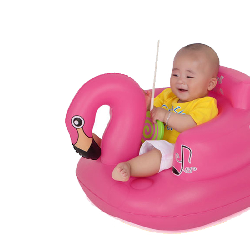 Cartoon Bath Seat Dining Chair Baby Inflatable Sofa Baby Chair Portable Play Game Mat