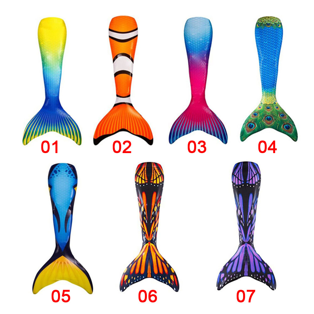 Women Mermaid Tail Swimmable Monofin Tail Swimming Costumes Flippers