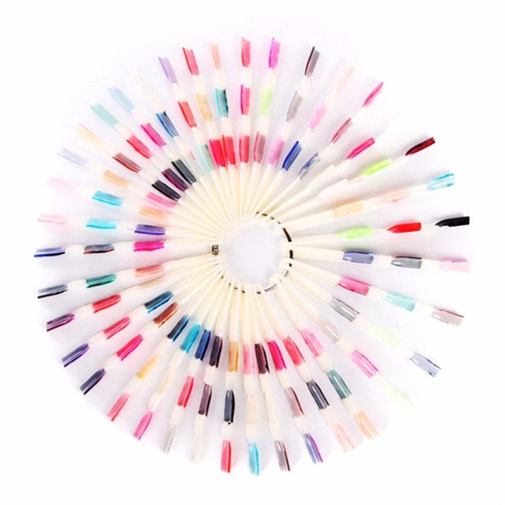 150 Tips Nail Art False Nail Display Fan Board Chart Color Sample Practice Polish