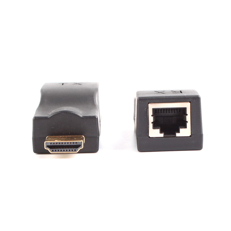 1 Pair Black HDMI extender converter by ONE Cat5e Cat6 cable Full HD 1080P