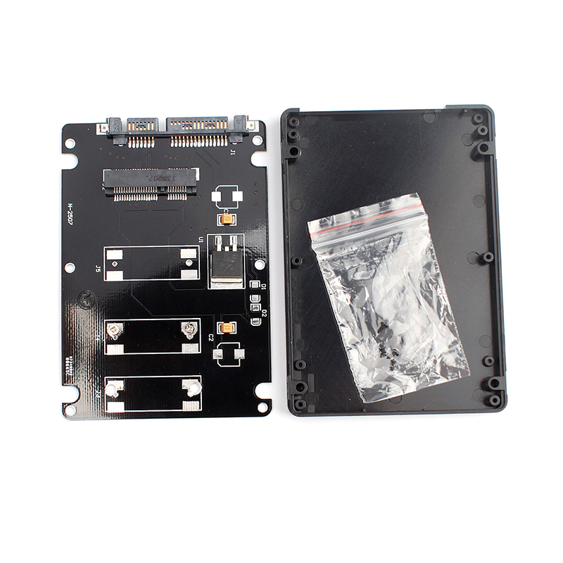 """Mini pcie mSATA SSD to 2.5"""" SATA3 adapter card with case Efficient and fast"""
