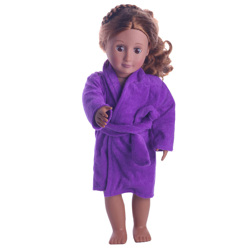 Beautiful Dolls Sleepware Robe Fits for 18 inch American Girl Doll