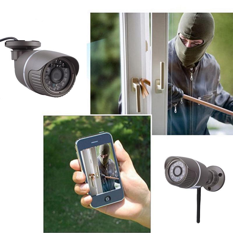 HD 720P IP Camera 1.0 Megapixel Outdoor WiFi Wireless CCTV Security Network Grey
