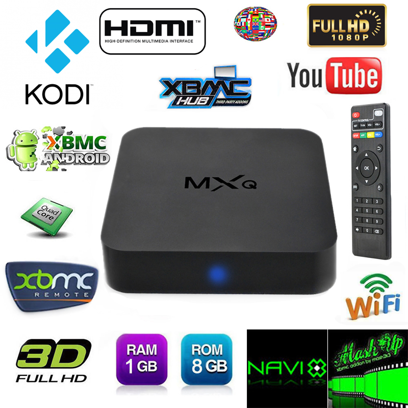 MXQ Amlogic S805 Android 4.4 Quad Core 8GB XBMC 1080P WiFi KODI Smart TV Box