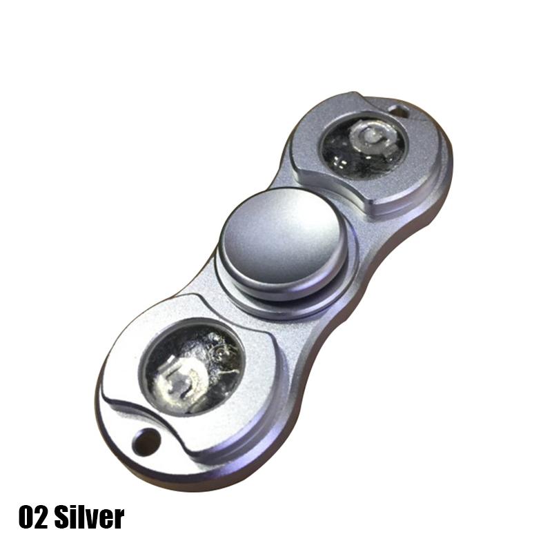 New LED Light Hand Spinner Fidget Toys Aluminium Mental Ceramic Finger Ball For Autism ADHD
