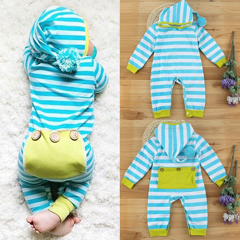 Infant Newborn Baby Boy Girl Kids Cotton Bodysuit Romper Jumpsuit Clothes