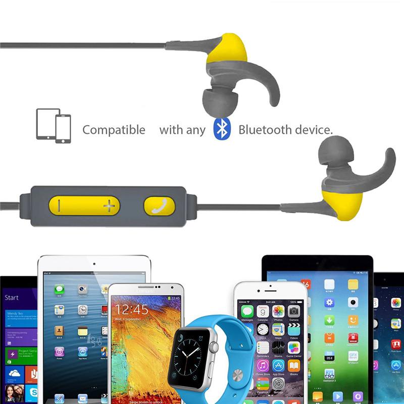 Universal Wireless Bluetooth In-ear Smart Stereo Sports Headphones Earphones with Mic