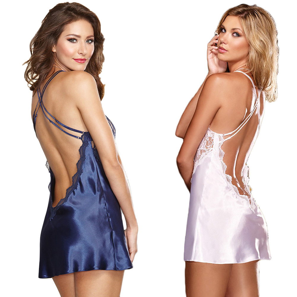Hot Women Sexy/Sissy Lace Lingerie Babydoll G-String Thong Nightwear Underwear