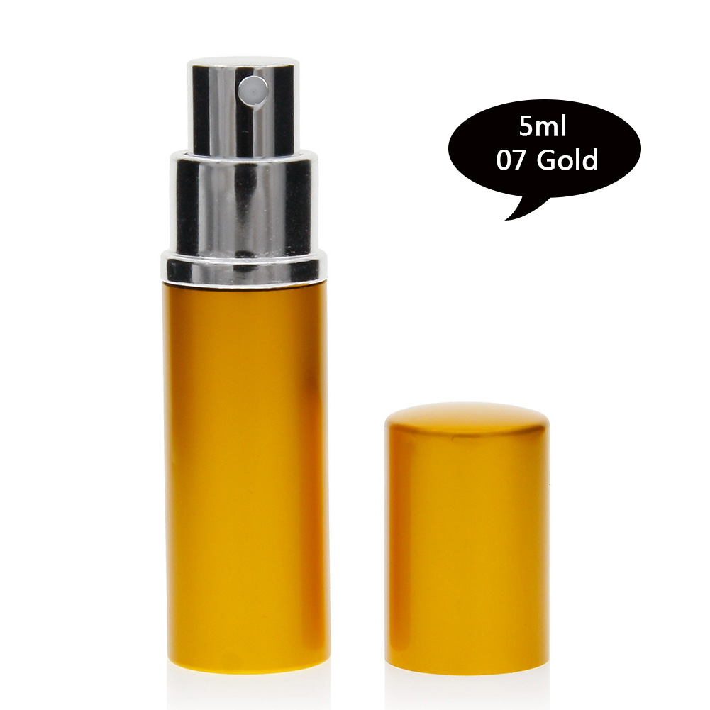 5ml Mini Travel Portable Refillable Perfume Atomizer Bottle Scent Pump Spray Case Empty Cosmetic Containers