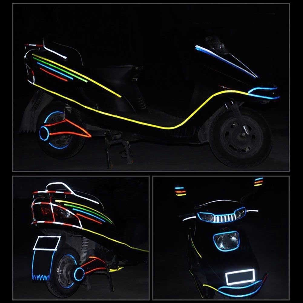 8M Reflective Stickers Safety Auto Car Bicycle Cycling DIY Reflector Tape