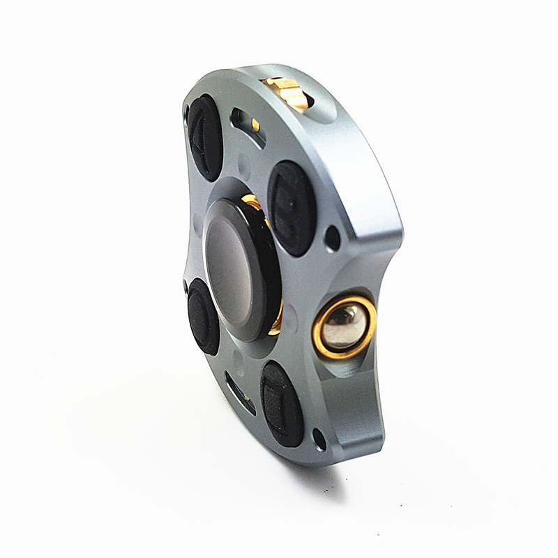 2 IN 1 Aluminium alloy Handle Cube Hand Spinner EDC Anxiety Stress Finger Spinner Focus Toy