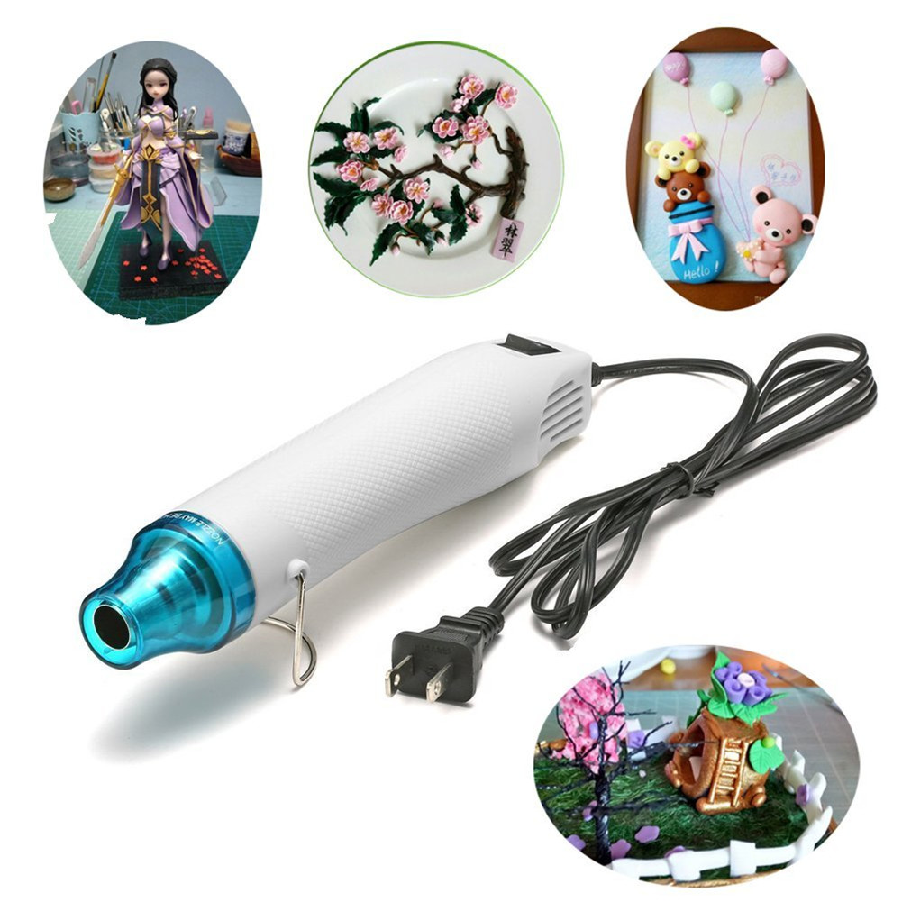 300W Electric Hot Air Gun US 110V/EU 220V Heat Gun DIY Tools For Mud Toys/Rubber Stamp/Shrinkable Film
