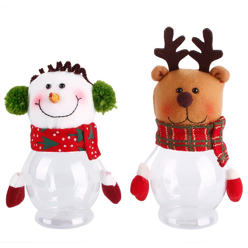 Lovely Kid Christmas Santa Candy Storage Box Jar Bottle Xmas Party Decor Doll Gift