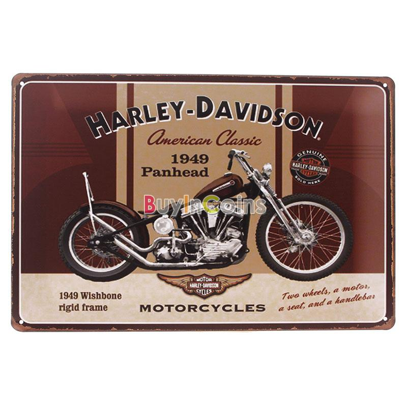 New Metal Pub Wall Harley Motorcycle Chic Decor Bar Vintage Sign Tin Plaque