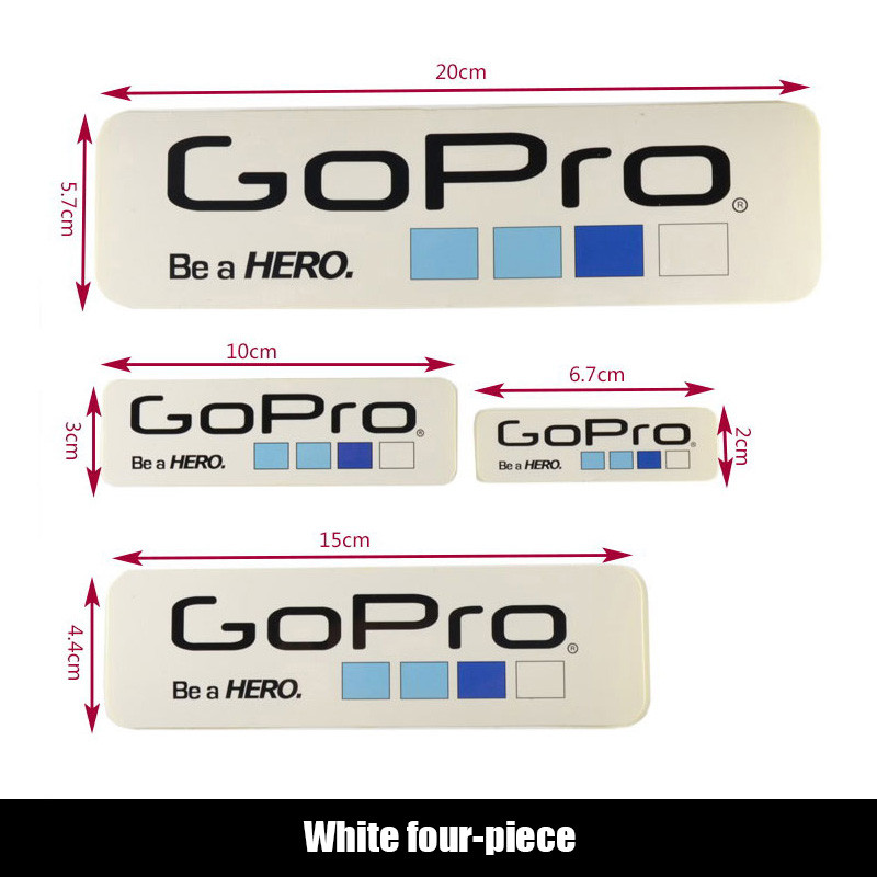 Camera Accessories Labels Icon Adhesive Logo Stickers for Gopro Sticker for Gopro Hero Session