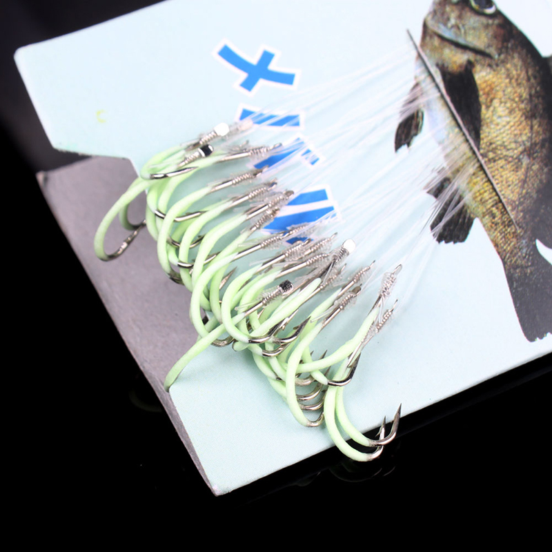 30pcs A Pack Hooks Authentic phosphorescent Outdoor Sports Luminous Fishing Tackle