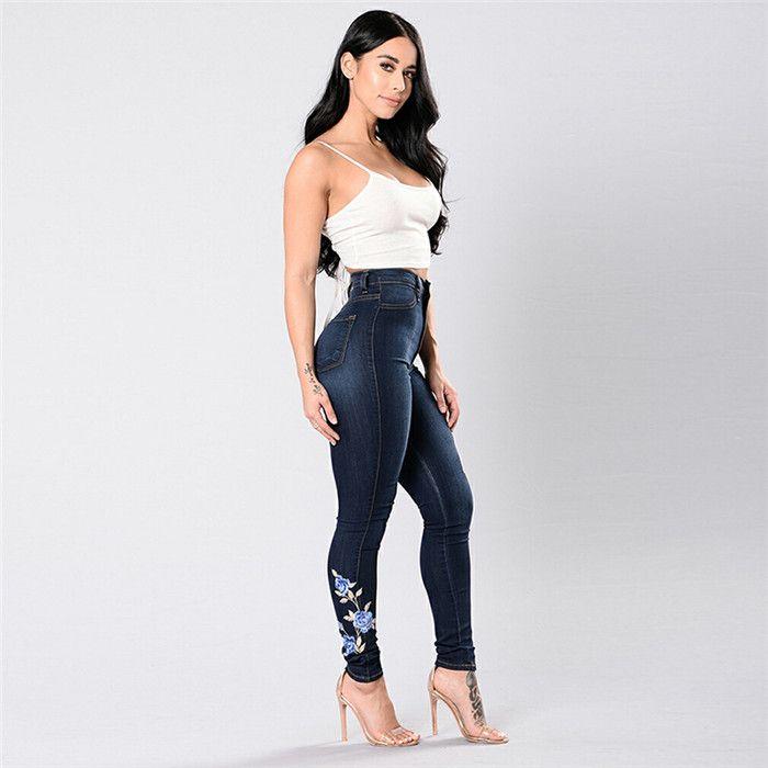 Women dress sexy jeans ladies High Waist denim Pencil pants