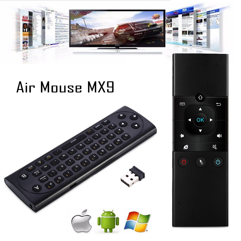 2 In 1 Mx9 Air Mouse Micro Keyboard 24ghz Wireless Remote Control Optical Power Usb Plug And Play For Tv Box