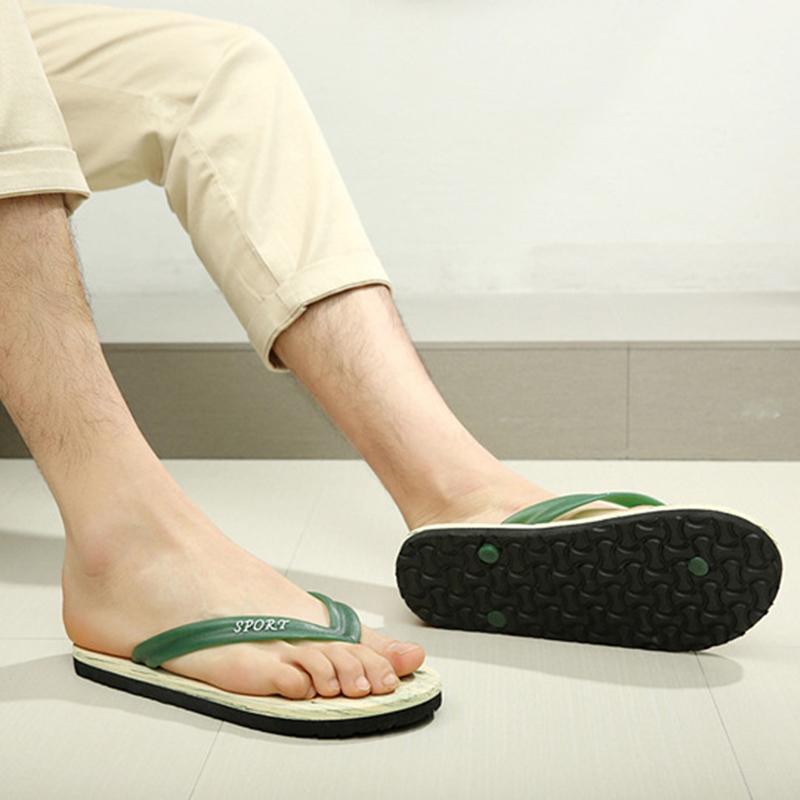 Hot Summer Men Flat Flip Flops Sandals Slippers Non-slip Beach Home Shoes