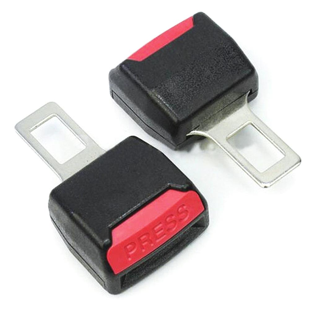 2pcs Car seat Belt Clip Universal Alarm Extension Cancellers Blug Buckle DEDC Black