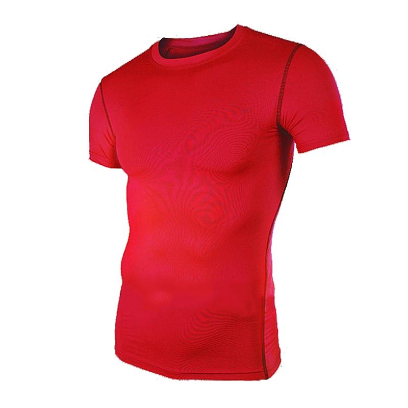 Fashion Men Short Sleeve T Shirt Stylish Fitness Gym Sports O neck Slim Casual Summer Tee