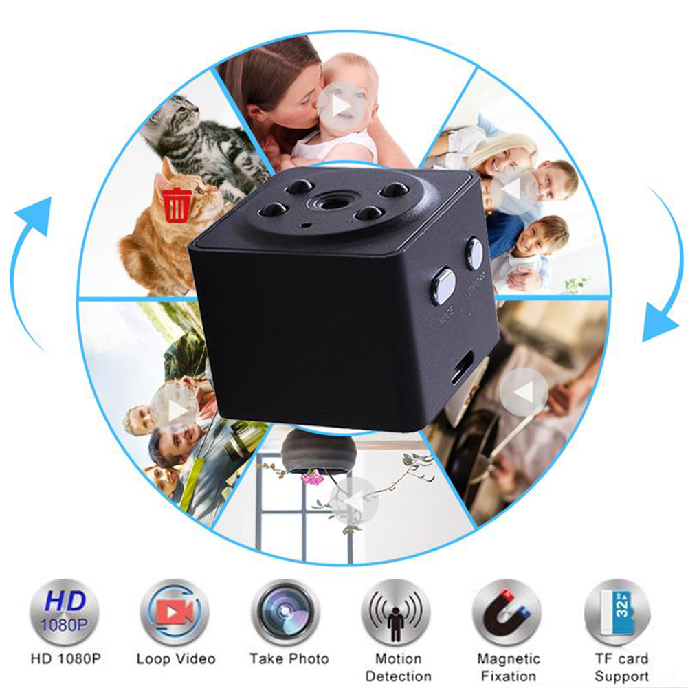 A7 1080P HD 30FPS Mini Camera Night Vision Micro DVR Camcorder Support TF Card With Motion Detection AV Output