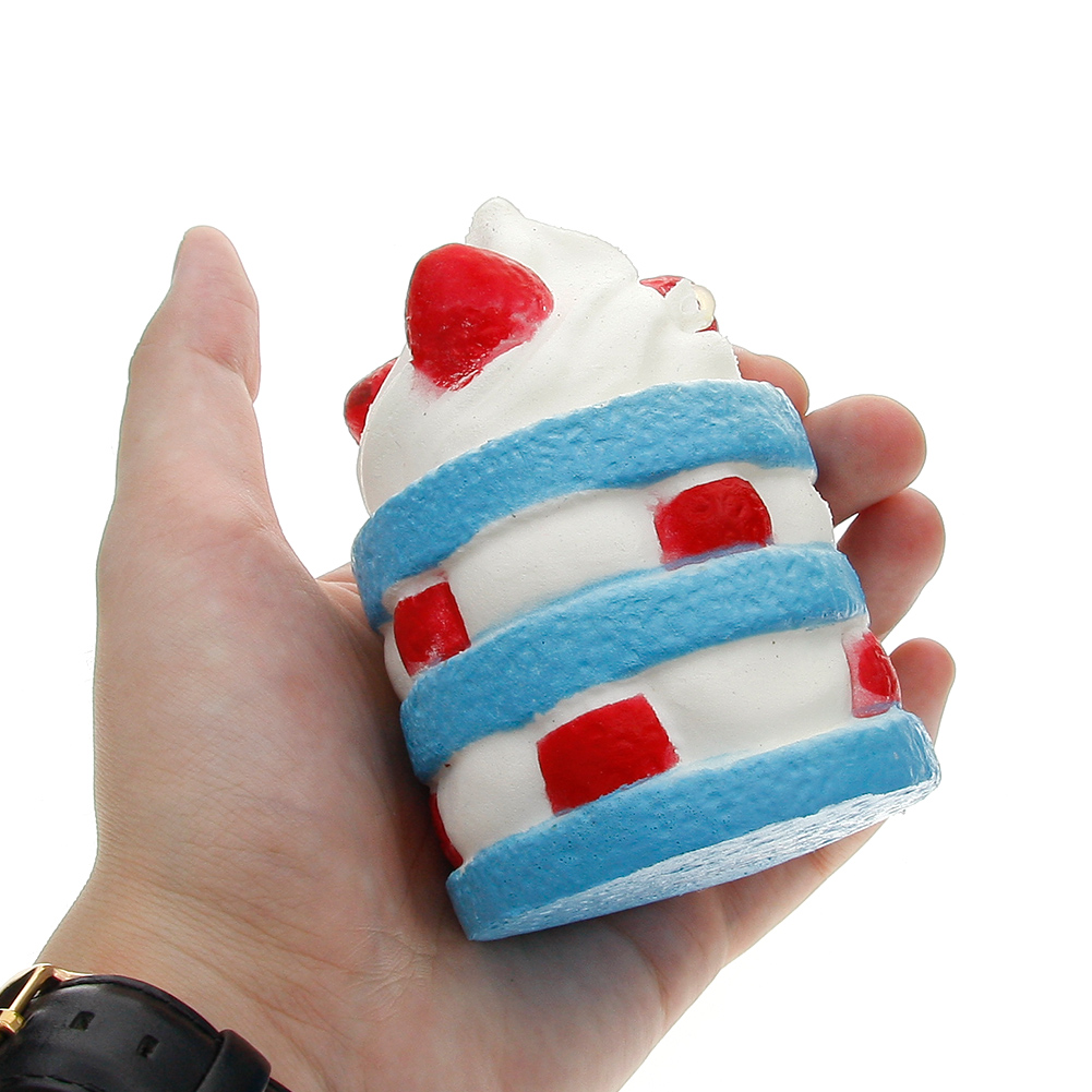Soft Squishy Simulation Ice Cream Cake Toy Slow Rising Home Decoration Sample Model for Children Adults Relieves Stress