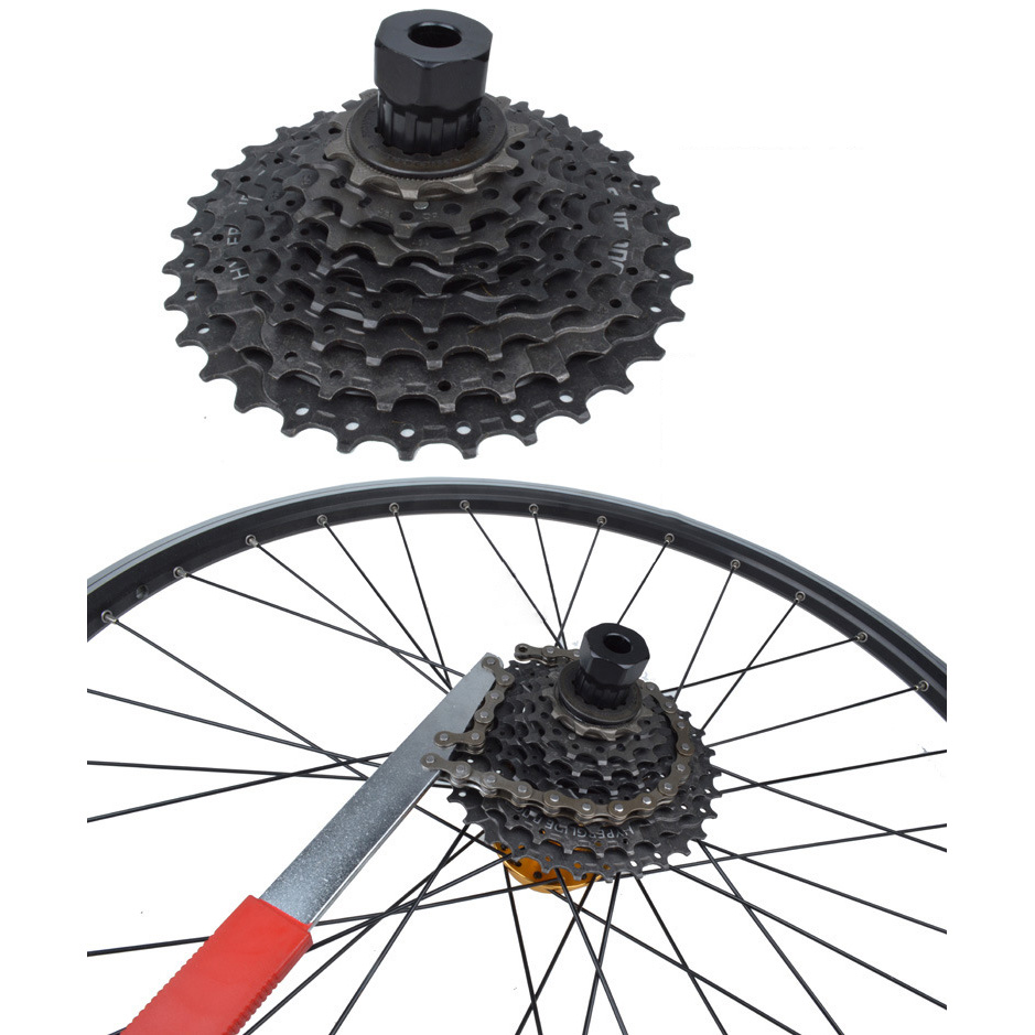 Bicycle Chain Whip Cycling Wheel Sprocket Wrench Remover Tool Flexible Portable for Road Vehicles Folding Mountaim Bike