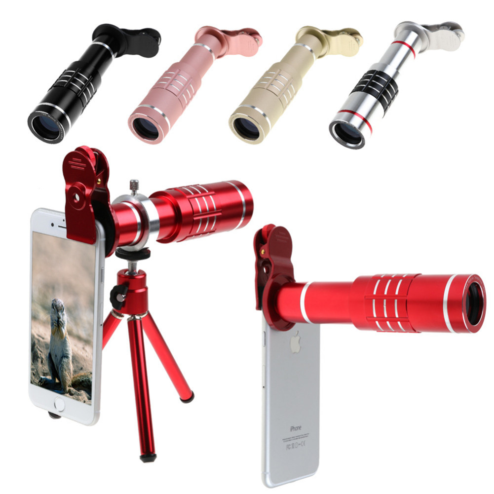 3 in 1 Universal 18X Zoom Optical Telephoto Camera Lens w/ Mini Tripod & Metal Clip For iPhone Samsung