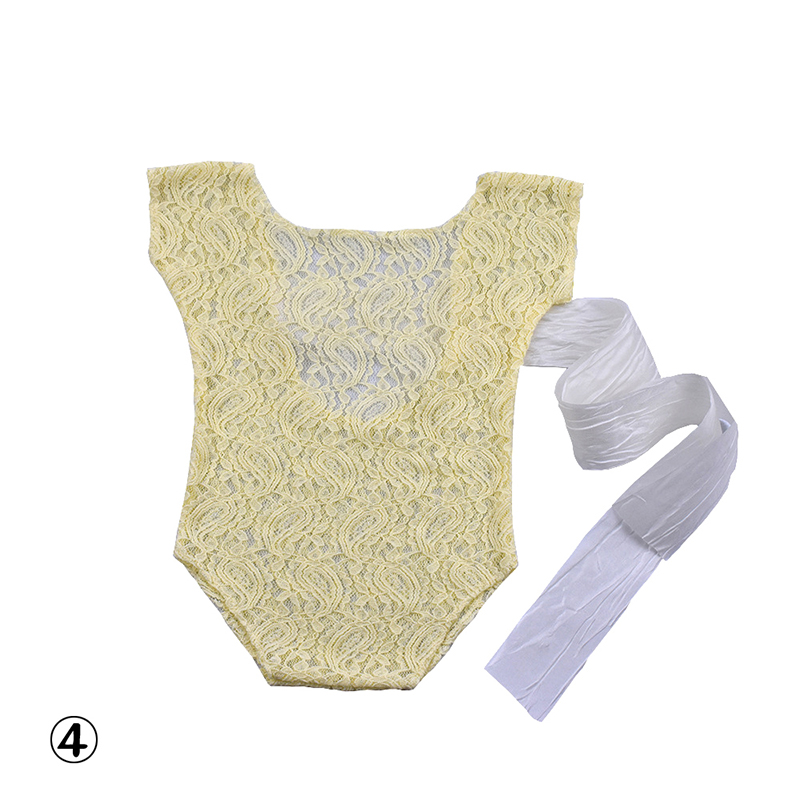 Newborn Lace Romper Baby Bloomer Jumper Baby Romper Photography Prop