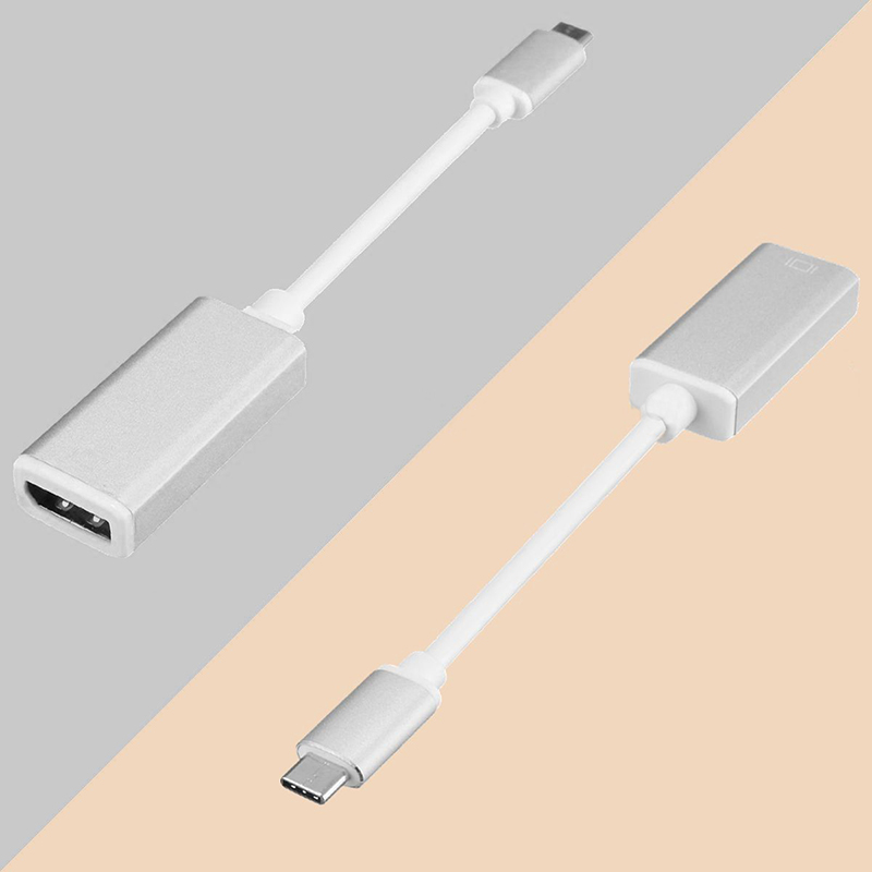 USB 3.1 Type-C to DisplayPort Adapter Support 4K output with Aluminium Case USB-C to DP DisplayPort Female