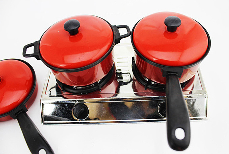 Kids Toys Artificial Tableware Child Kitchen Cooking Utensils Pots House