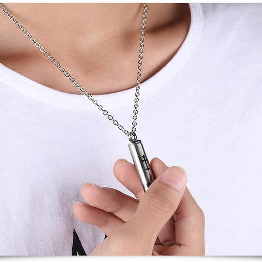New fashion jewelry pure steel with chain cross can be loaded with small Dongdong