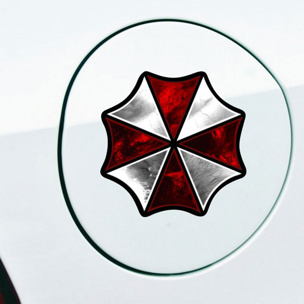 Car Sticker Resident Reflective Evil Umbrella Fuel Tank Diameter 8cm/3.15inch