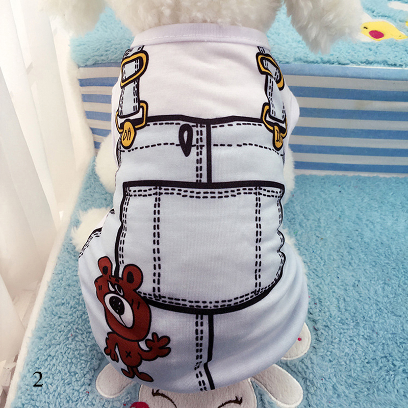 Cute Pet Dog Vest Summer Clothes Small Dogs Chihuahua T-shirt Soft Cotton Shirt XLL Size