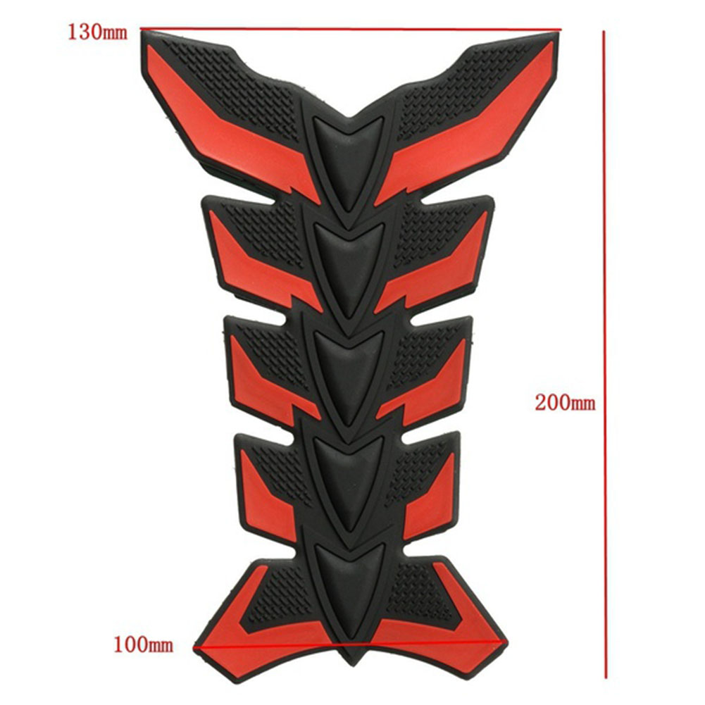 3D Rubber Motorcycle Gel Gas Oil Fuel Tank Pad Decal Sticker