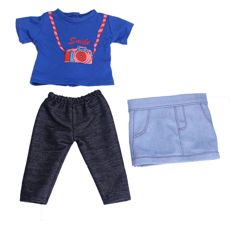 Fashion Dolls T Shirt Pants Leggings Shoes Set Clothes for 18 inch Girl Doll