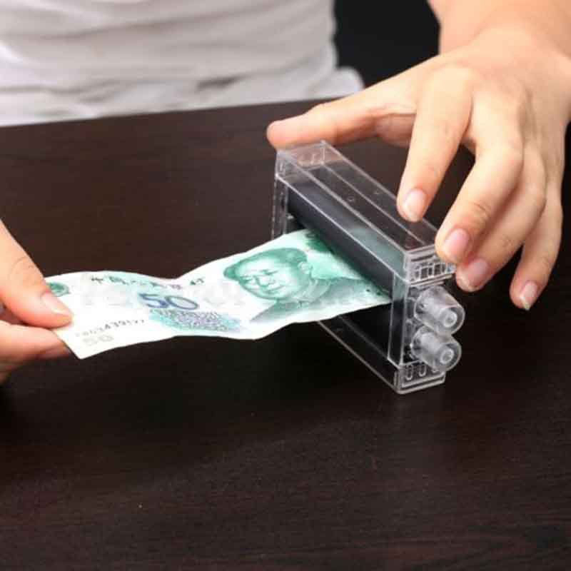 Magic Trick Transparent Money Maker Machine Paper To Bill Close Up Toys