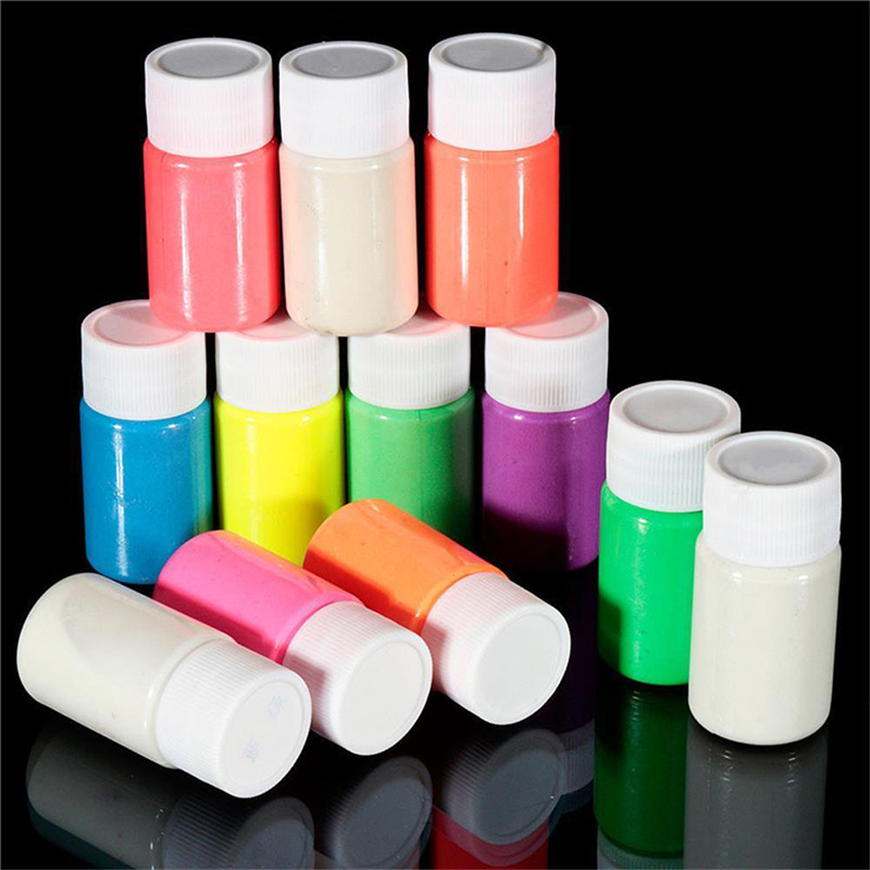 DIY Glow in the Dark Acrylic Luminous Paint Bright Pigment Decoration