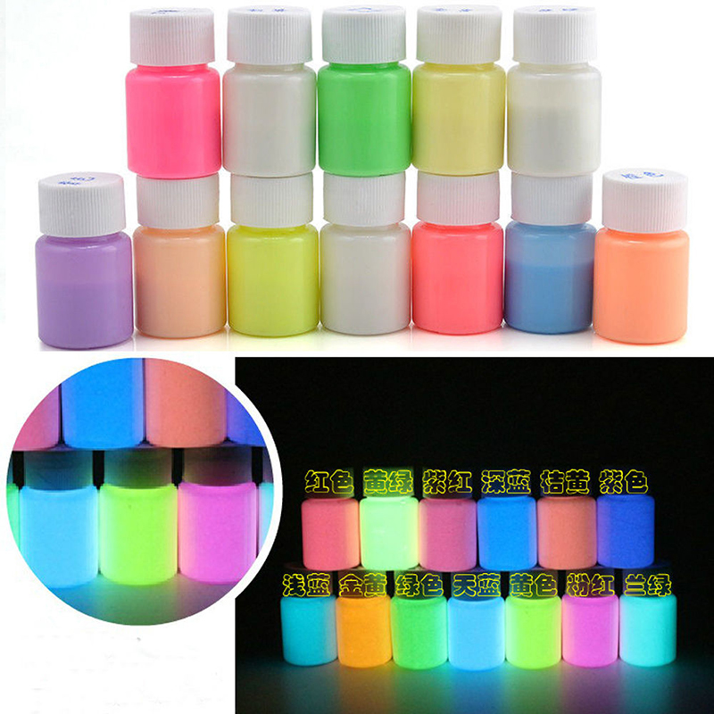 DIY Glow in the Dark Acrylic Luminous Paint Bright Pigment Decoration